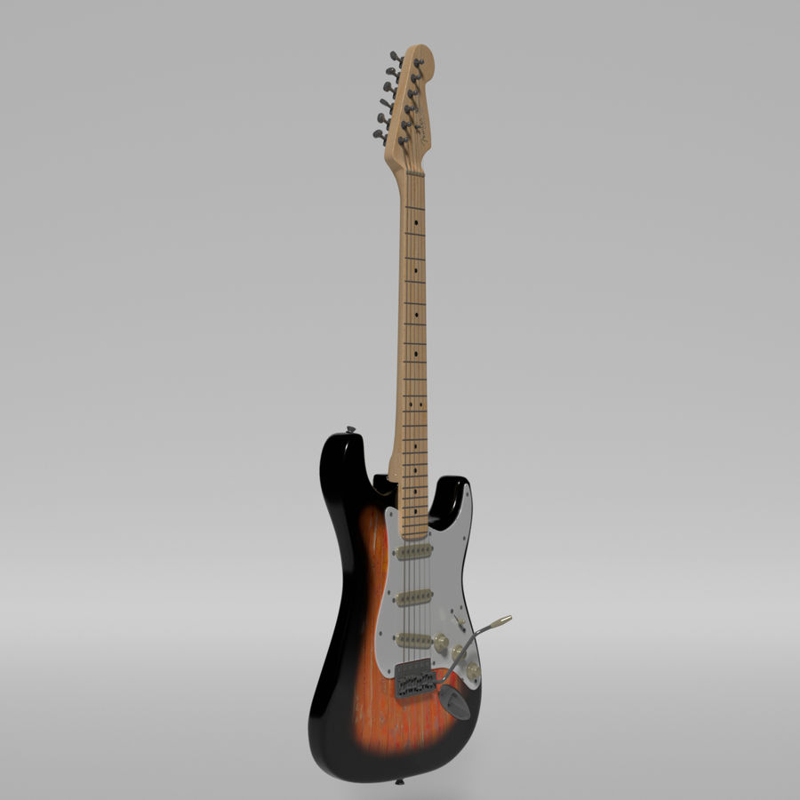 Guitare Fender Stratocaster royalty-free 3d model - Preview no. 24