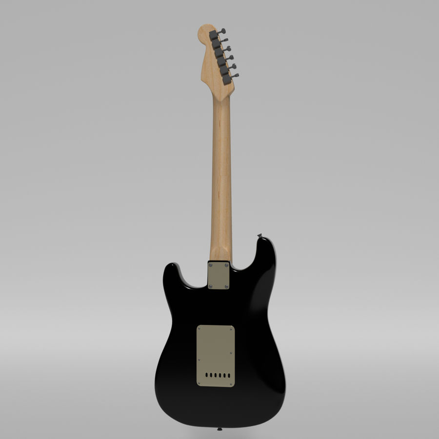 Guitare Fender Stratocaster royalty-free 3d model - Preview no. 36