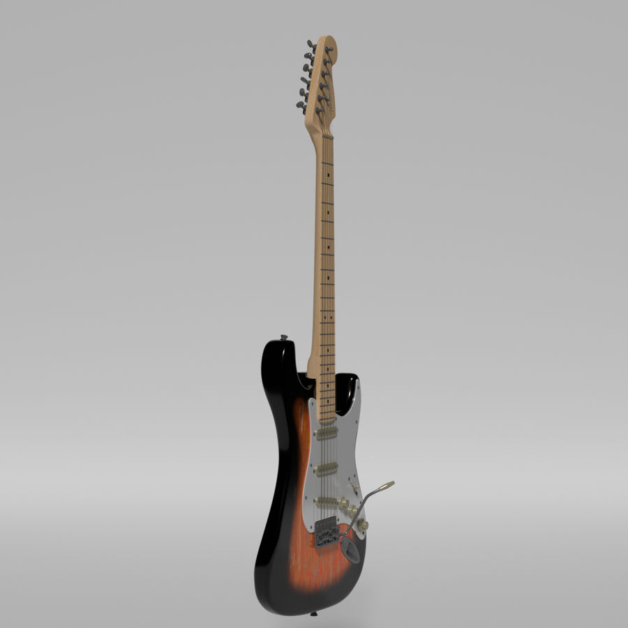 Guitare Fender Stratocaster royalty-free 3d model - Preview no. 25