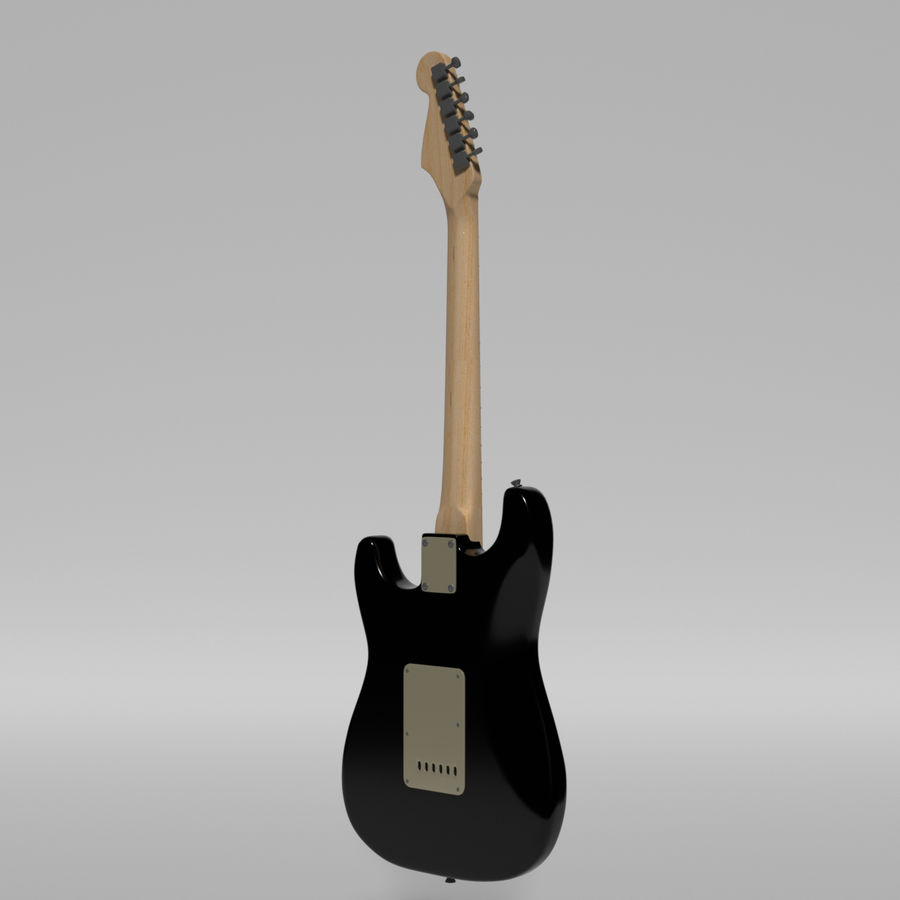 Guitare Fender Stratocaster royalty-free 3d model - Preview no. 33