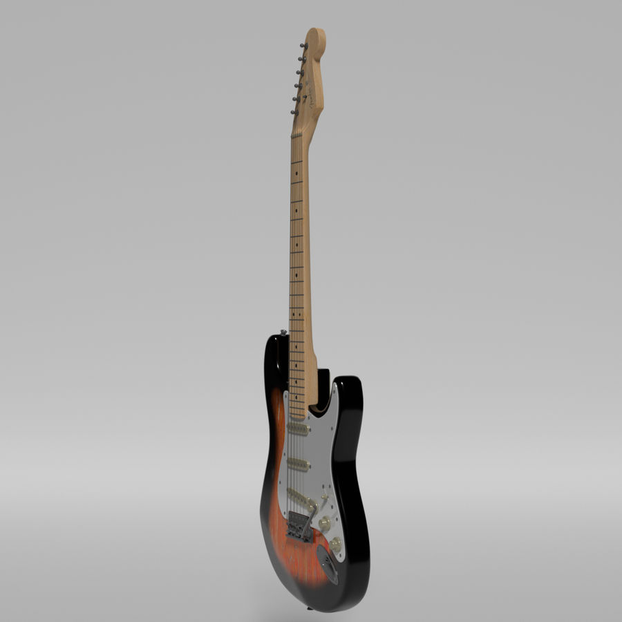 Guitare Fender Stratocaster royalty-free 3d model - Preview no. 49