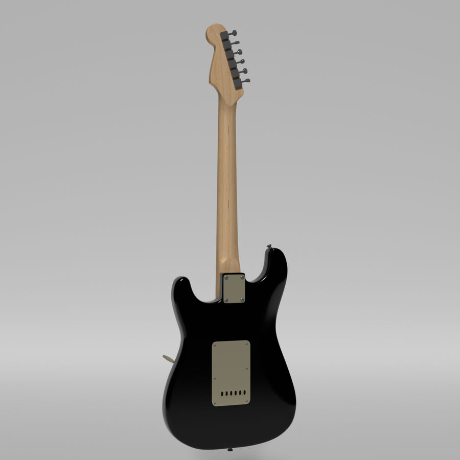 Guitare Fender Stratocaster royalty-free 3d model - Preview no. 39