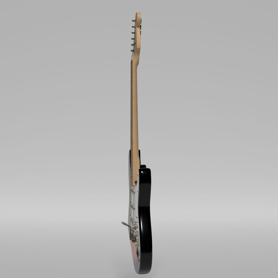 Guitarra Fender Stratocaster royalty-free modelo 3d - Preview no. 47