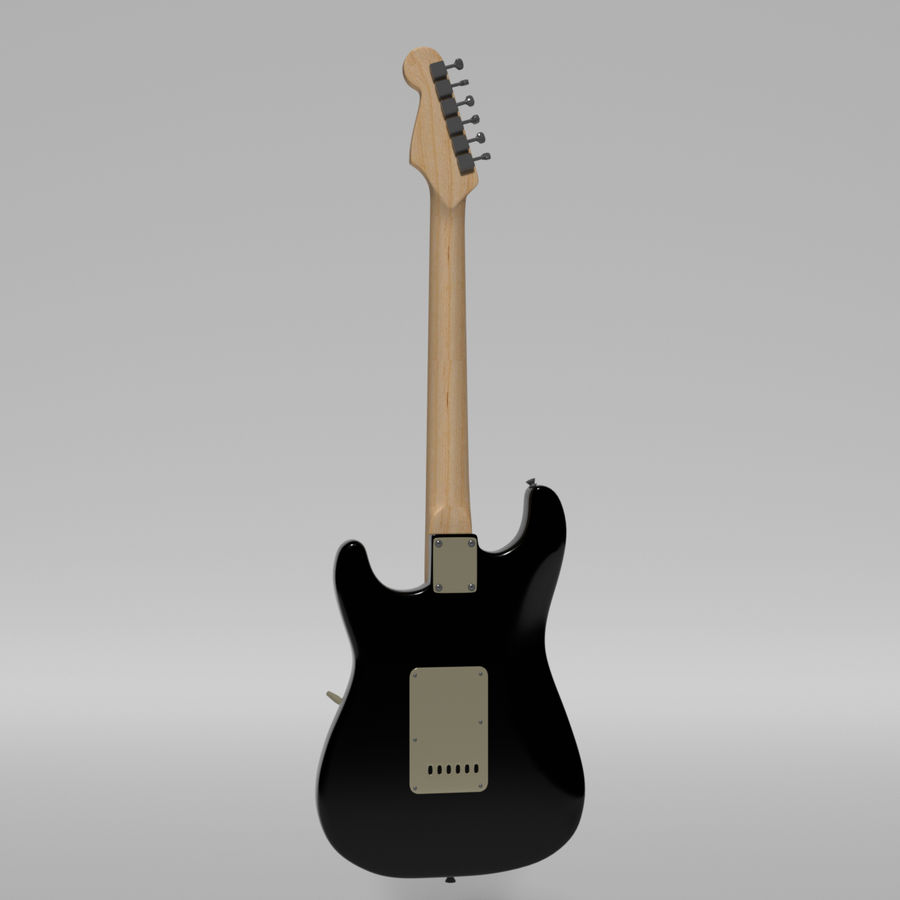Guitare Fender Stratocaster royalty-free 3d model - Preview no. 38