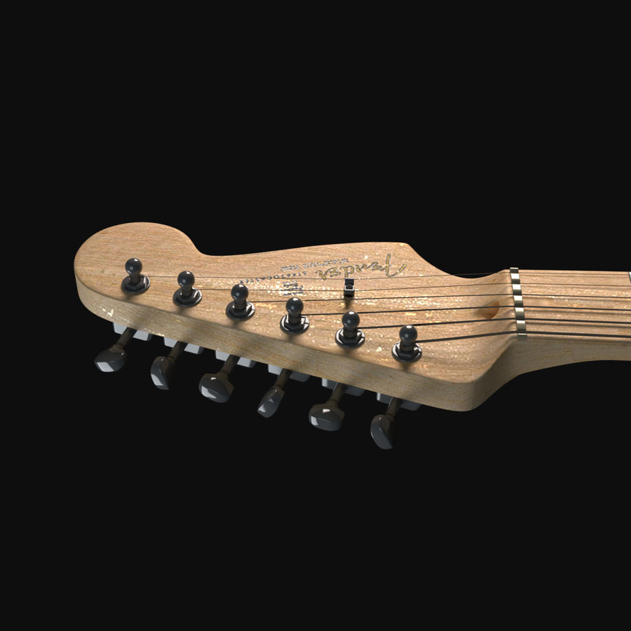 Guitarra Fender Stratocaster royalty-free modelo 3d - Preview no. 7