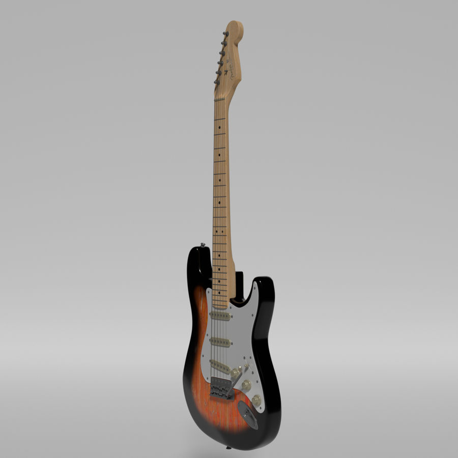 Guitare Fender Stratocaster royalty-free 3d model - Preview no. 50