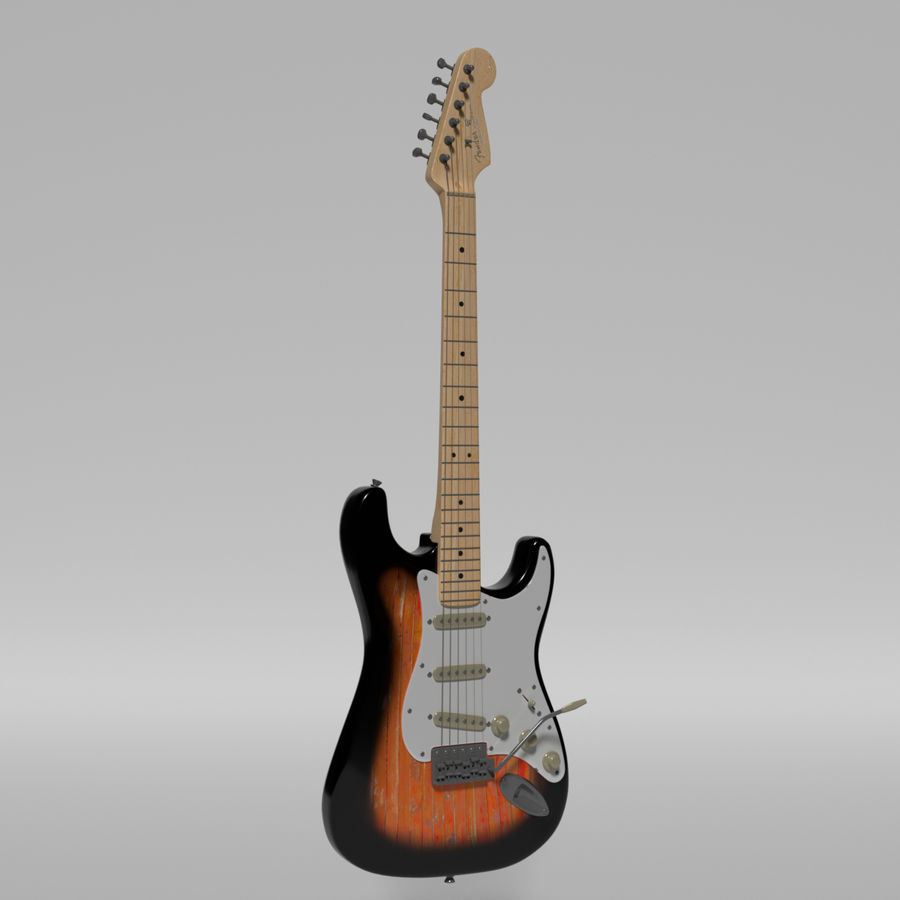 Guitare Fender Stratocaster royalty-free 3d model - Preview no. 22