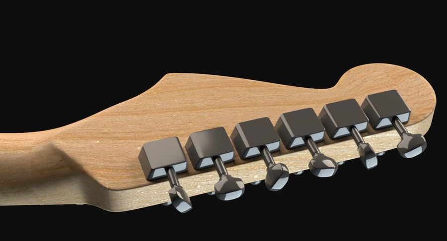 Guitarra Fender Stratocaster royalty-free modelo 3d - Preview no. 6