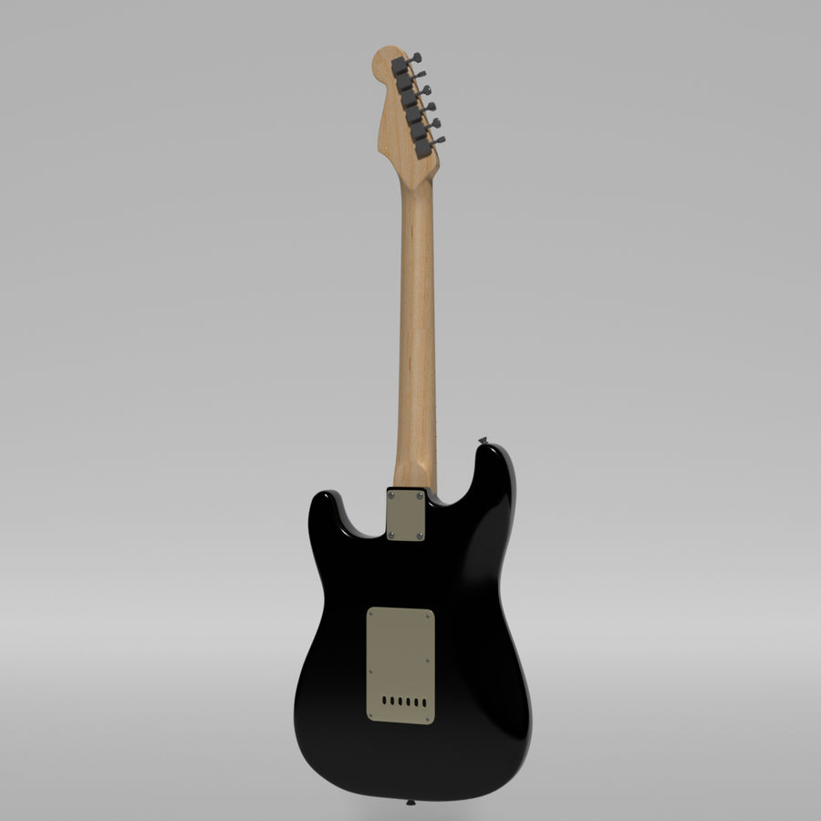 Guitare Fender Stratocaster royalty-free 3d model - Preview no. 35