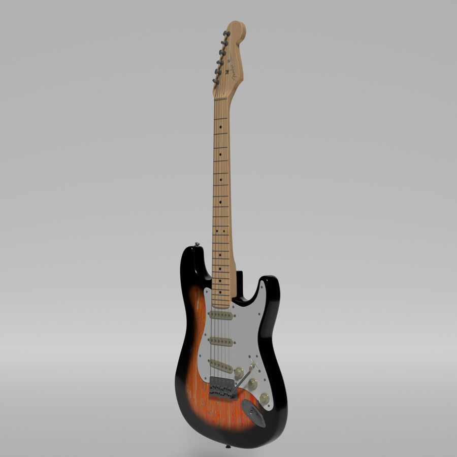 Guitare Fender Stratocaster royalty-free 3d model - Preview no. 51
