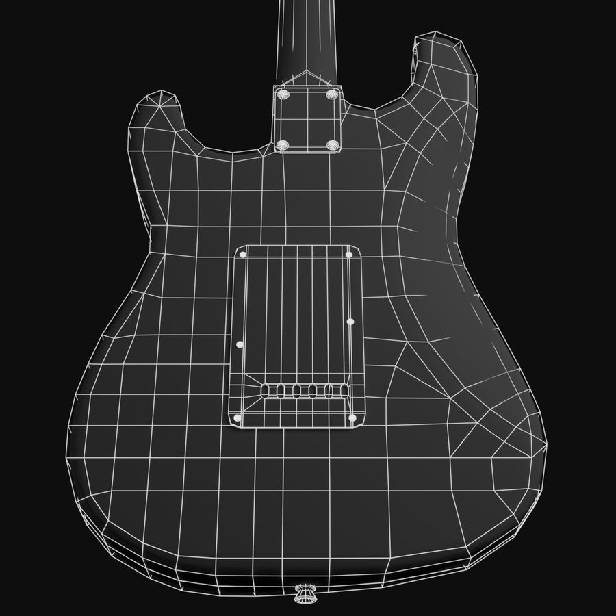 Guitare Fender Stratocaster royalty-free 3d model - Preview no. 14