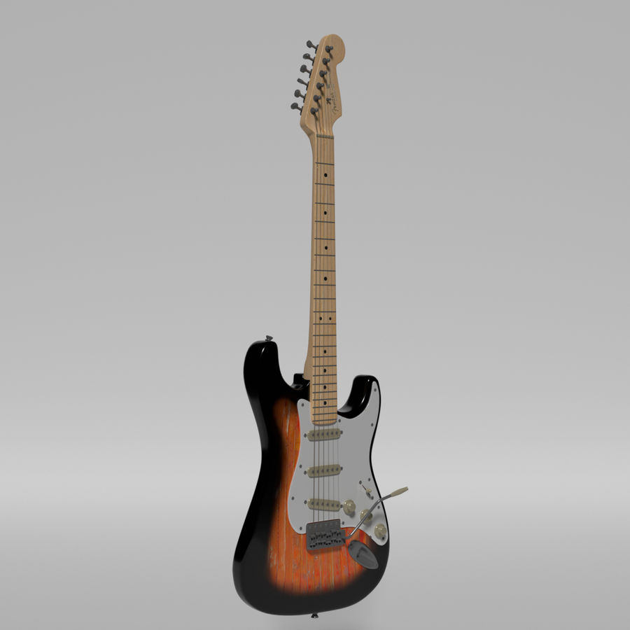 Guitare Fender Stratocaster royalty-free 3d model - Preview no. 23