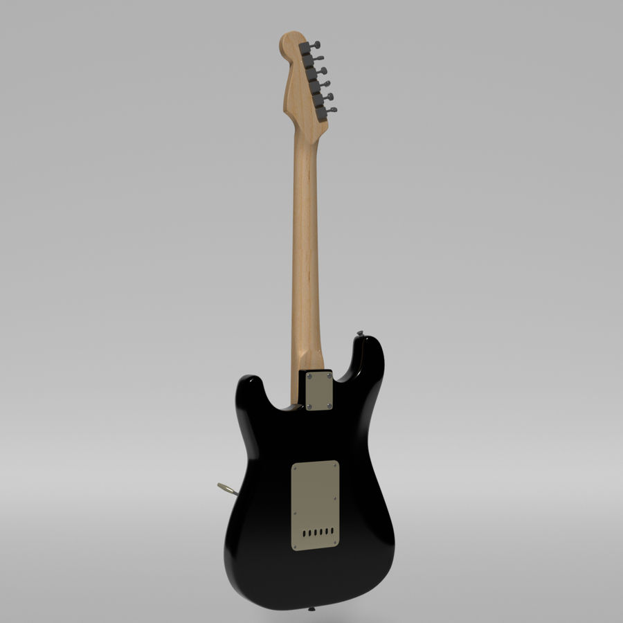 Guitare Fender Stratocaster royalty-free 3d model - Preview no. 40