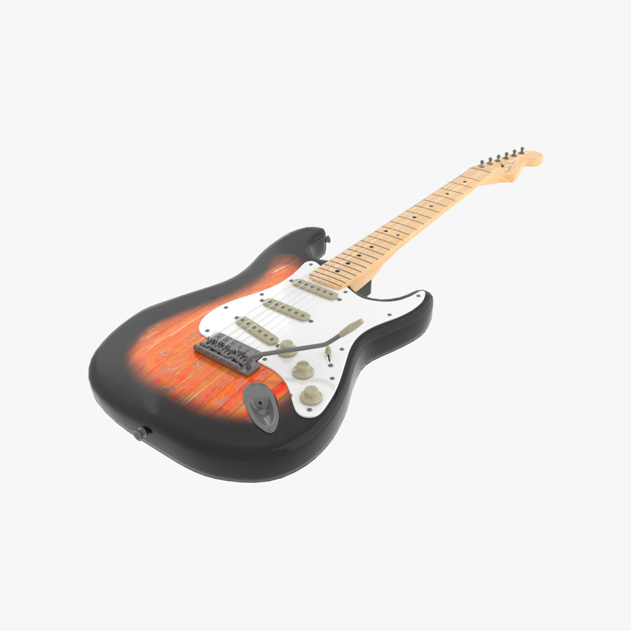 Guitare Fender Stratocaster royalty-free 3d model - Preview no. 1