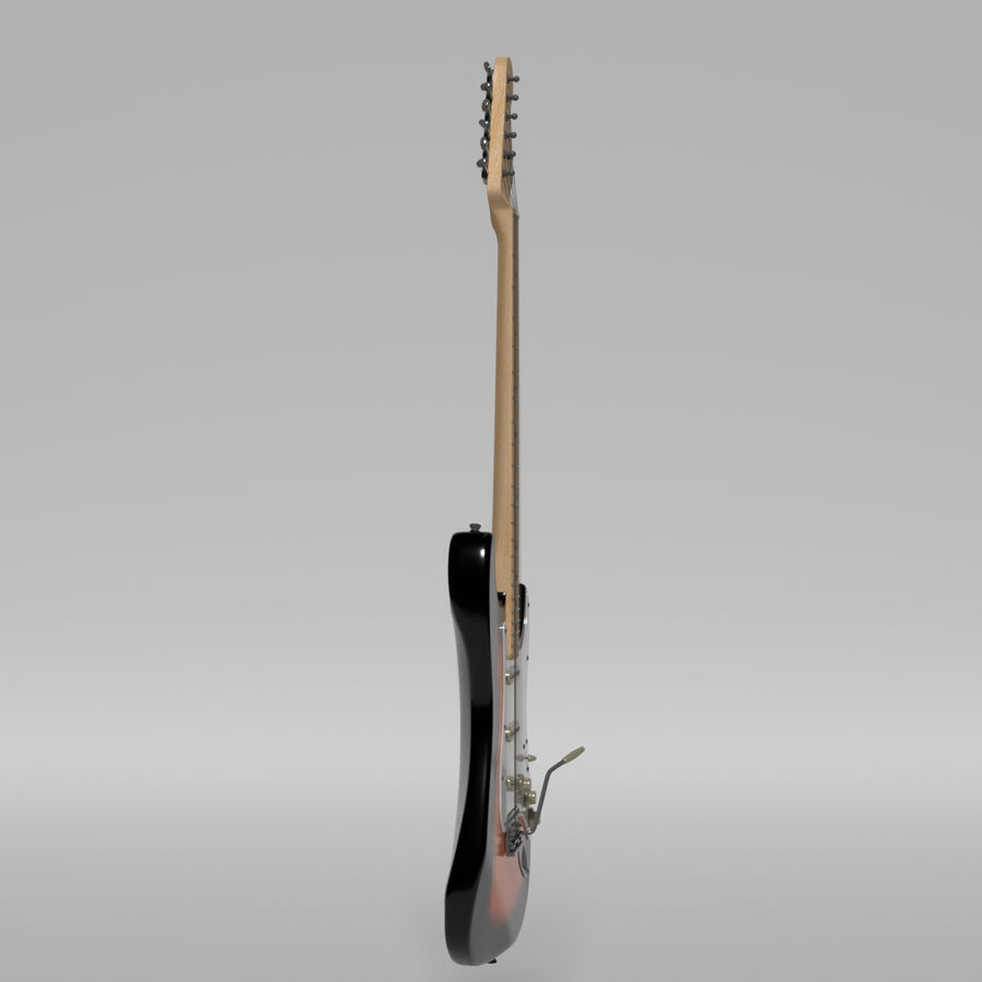 Guitare Fender Stratocaster royalty-free 3d model - Preview no. 27