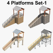 4 Ensemble de plate-forme 1 3d model