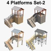 4 Plate-forme Set 2 3d model