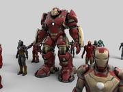 Framtida robot Collection 3D-modell 3d model