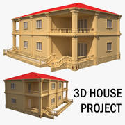 3D房屋项目 3d model