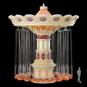 Attraction. Carousel 3d model