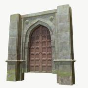 Fantasy Castle Gates 3D 3d model