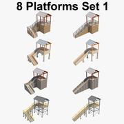 8平台组合_1 3d model