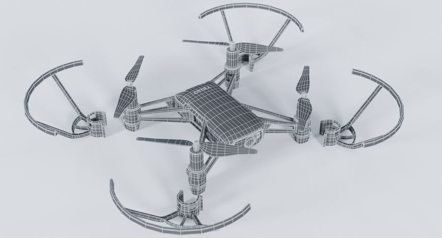 DJI Tello Drone royalty-free 3d model - Preview no. 21