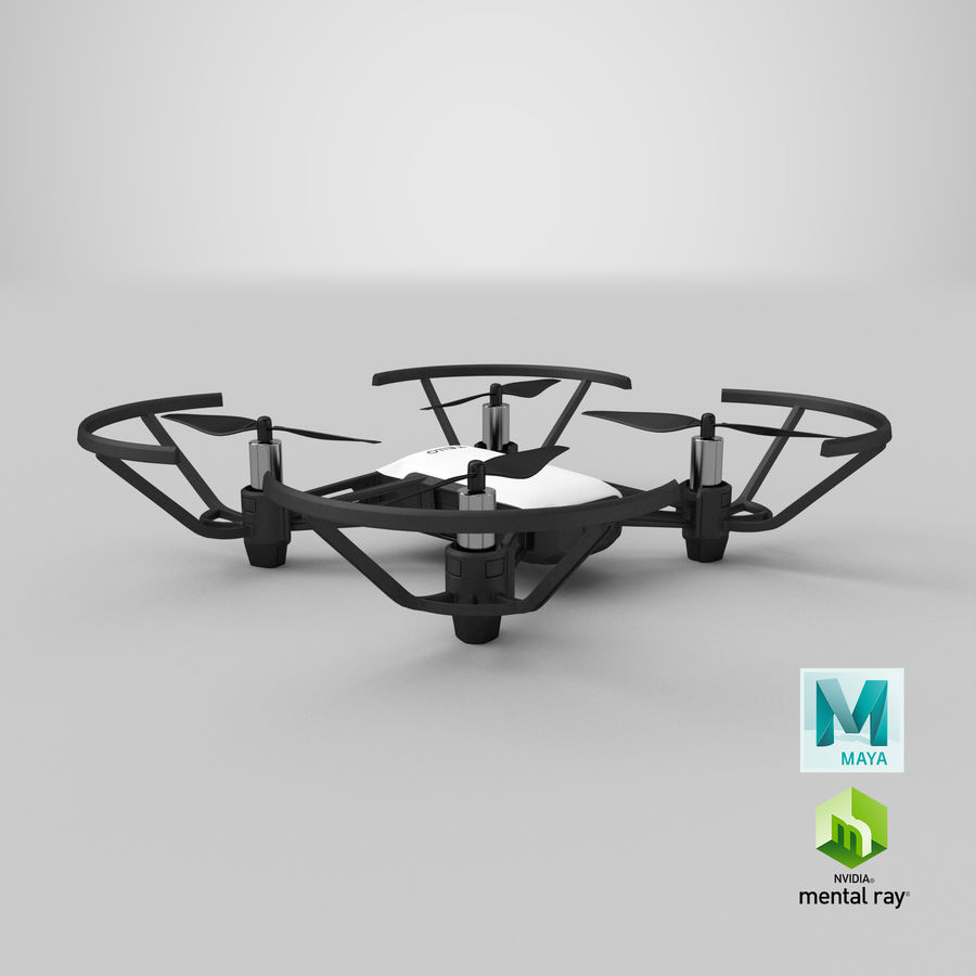 DJI Tello Drone royalty-free 3d model - Preview no. 27