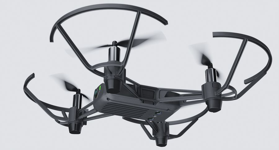 DJI Tello Drone royalty-free 3d model - Preview no. 8