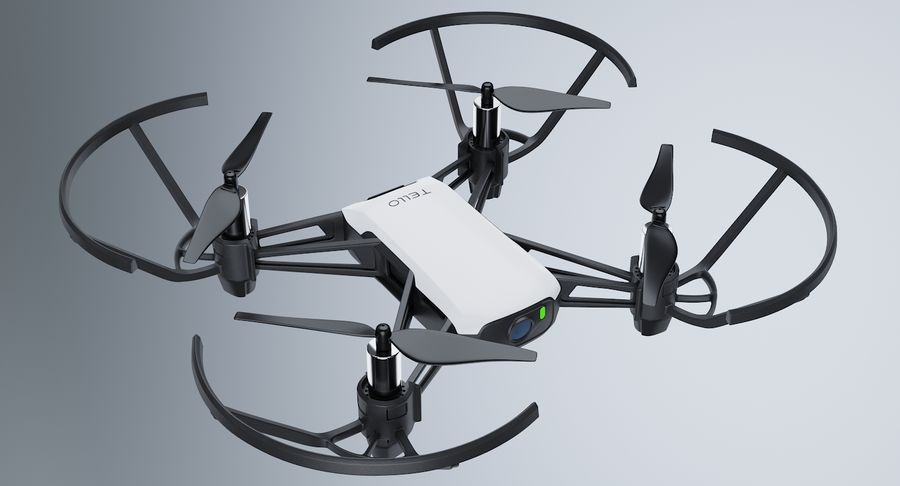 DJI Tello Drone royalty-free 3d model - Preview no. 4