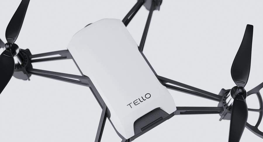 DJI Tello Drone royalty-free 3d model - Preview no. 11