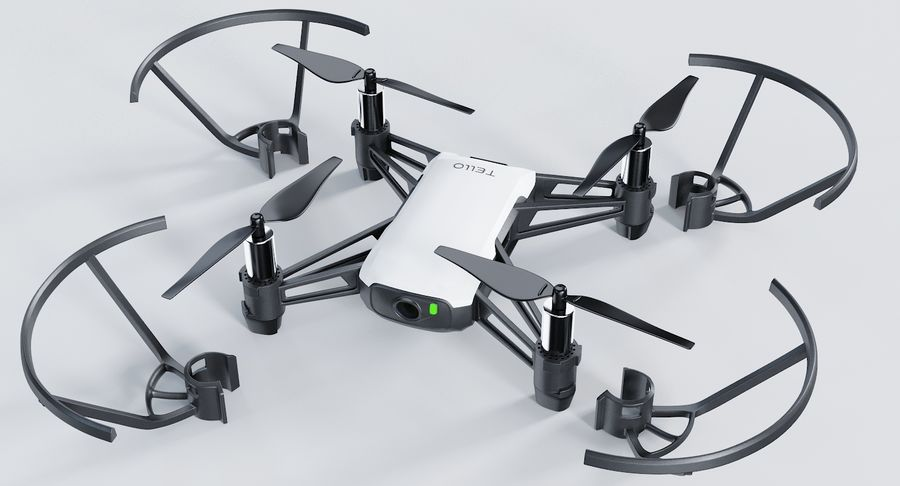 DJI Tello Drone royalty-free 3d model - Preview no. 3