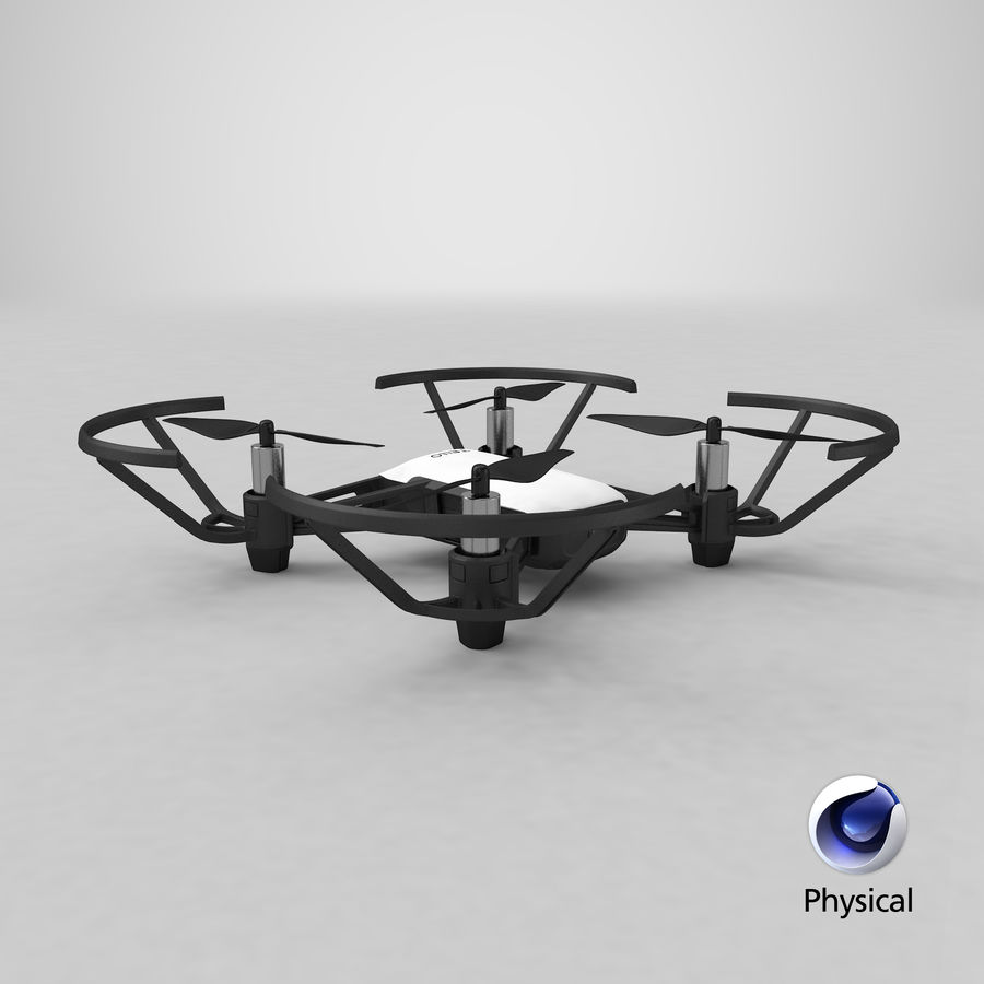 DJI Tello Drone royalty-free 3d model - Preview no. 32