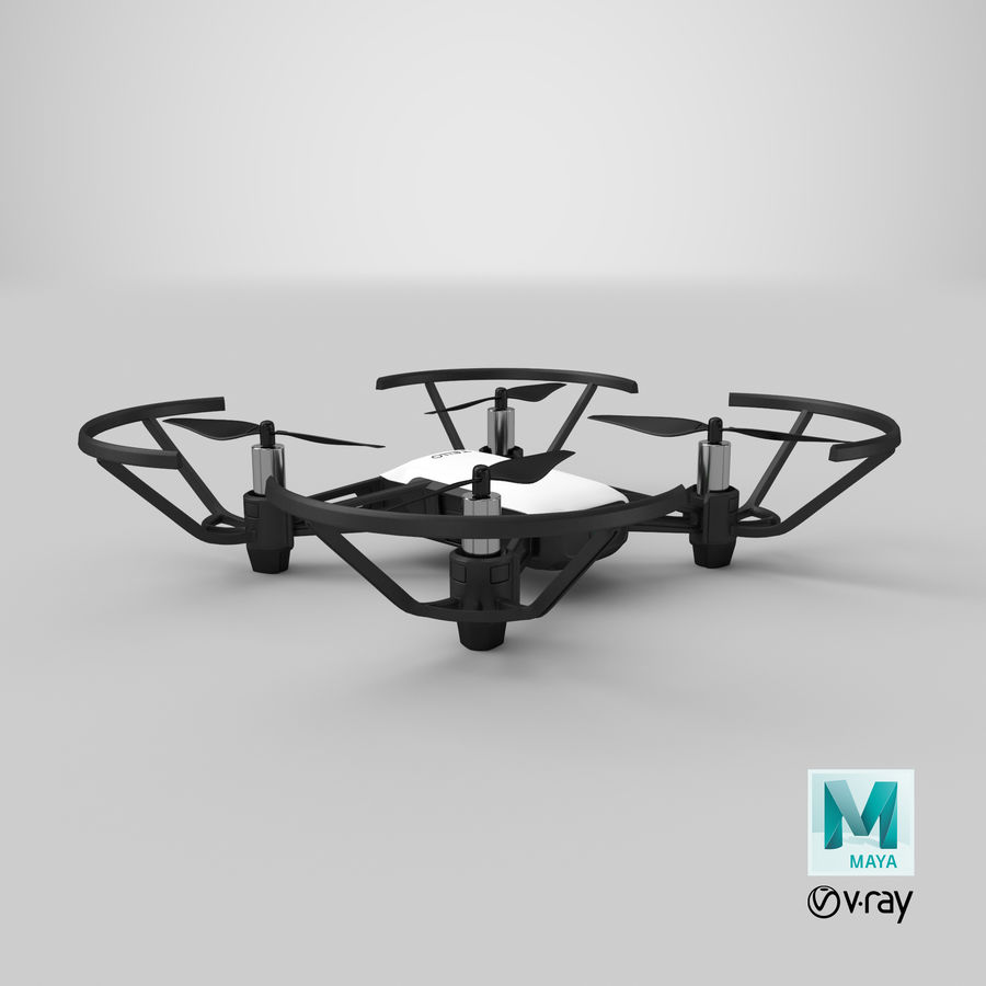 DJI Tello Drone royalty-free 3d model - Preview no. 26