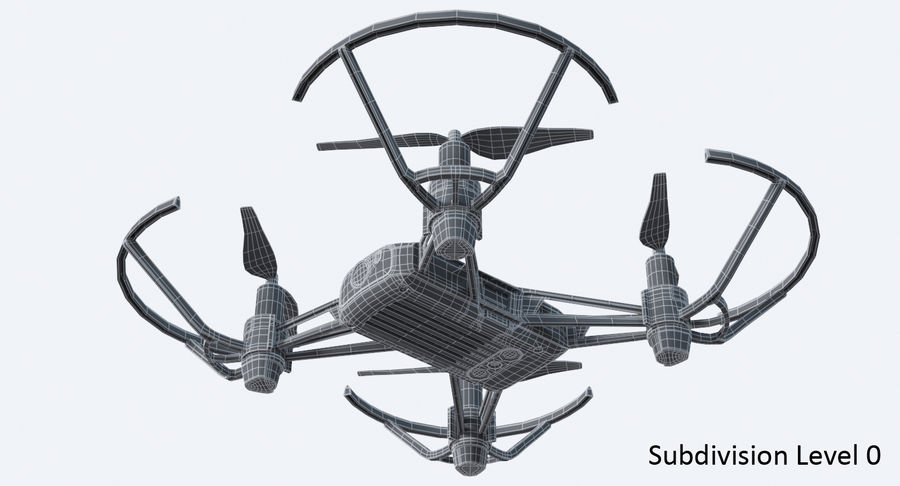 DJI Tello Drone royalty-free 3d model - Preview no. 19