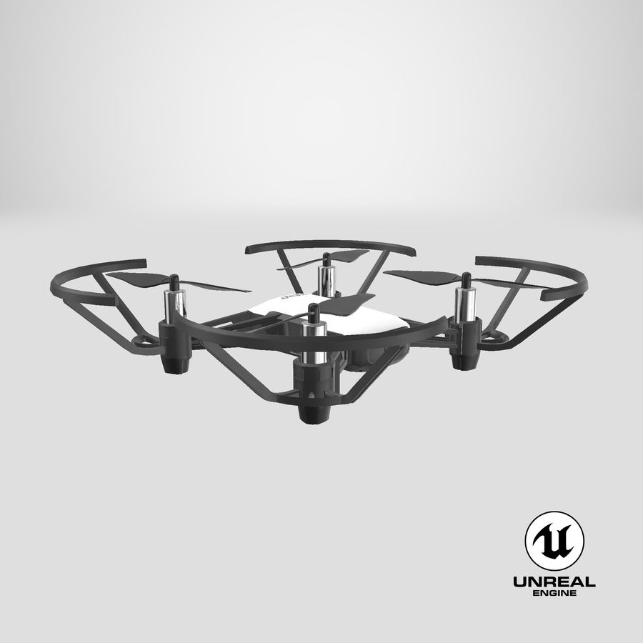DJI Tello Drone royalty-free 3d model - Preview no. 30