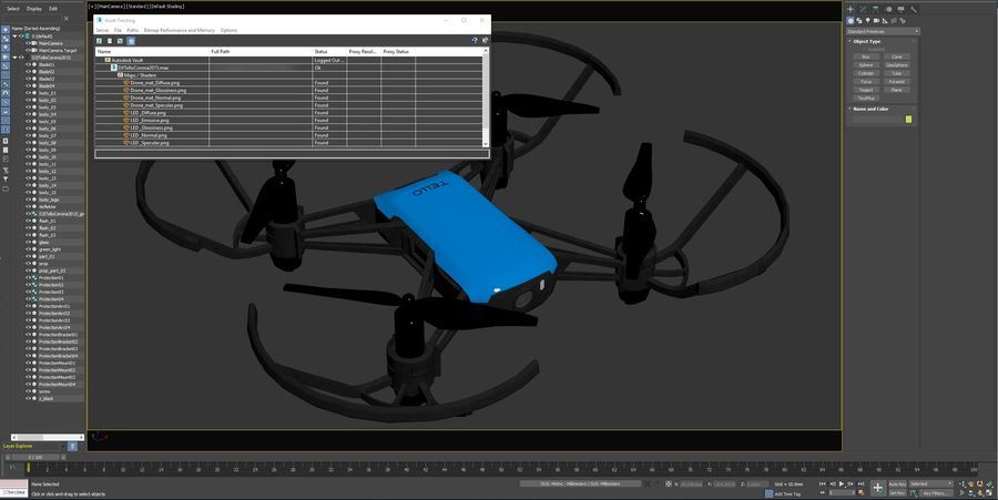 DJI Tello Drone royalty-free 3d model - Preview no. 25