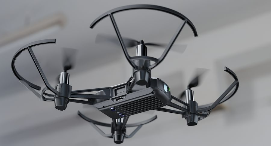 DJI Tello Drone royalty-free 3d model - Preview no. 7