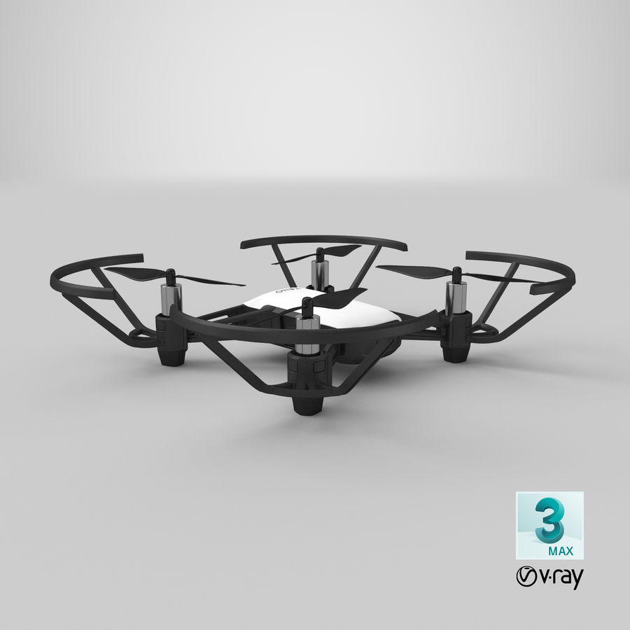 DJI Tello Drone royalty-free 3d model - Preview no. 28
