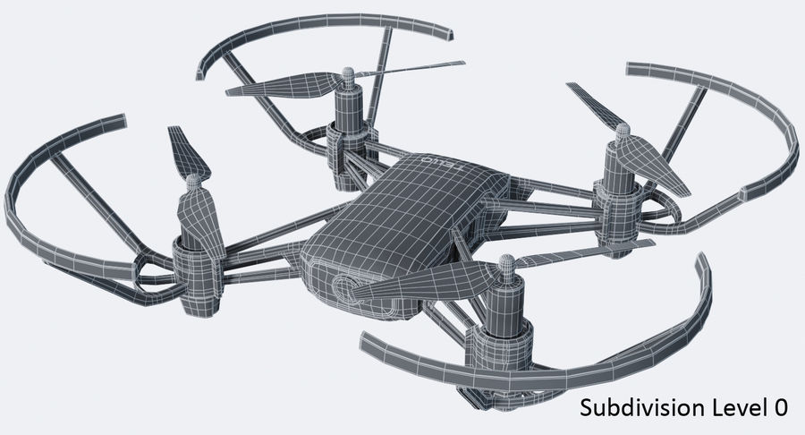 DJI Tello Drone royalty-free 3d model - Preview no. 17