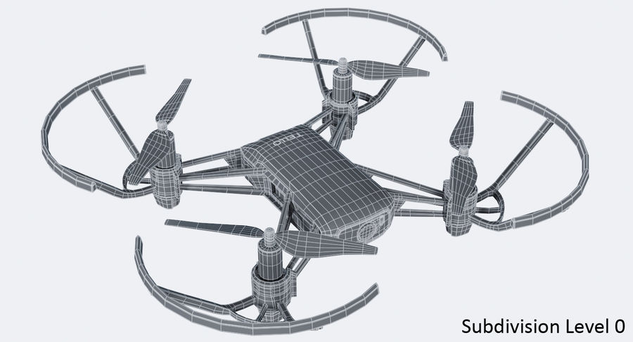 DJI Tello Drone royalty-free 3d model - Preview no. 15