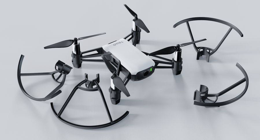 DJI Tello Drone royalty-free 3d model - Preview no. 6