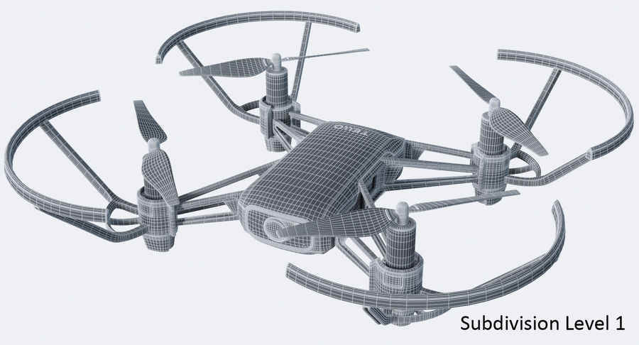 DJI Tello Drone royalty-free 3d model - Preview no. 18