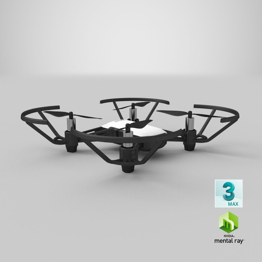 DJI Tello Drone royalty-free 3d model - Preview no. 29