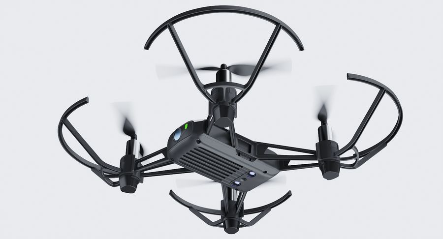DJI Tello Drone royalty-free 3d model - Preview no. 14