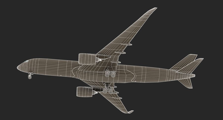 Airbus A350 Delta Airlines royalty-free 3d model - Preview no. 18