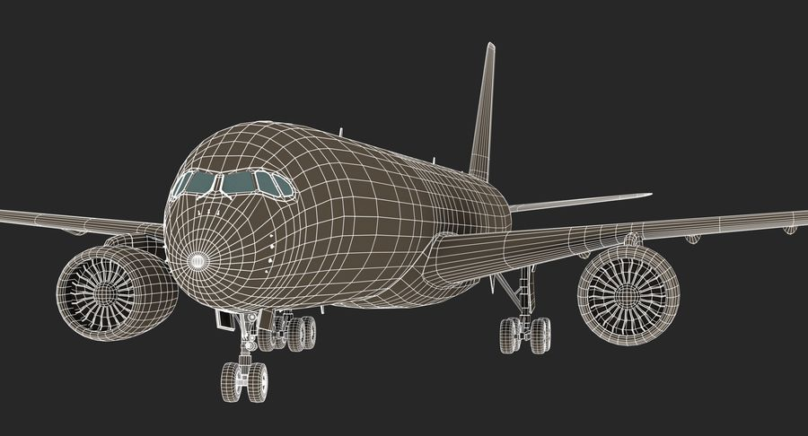 Airbus A350 Delta Airlines royalty-free 3d model - Preview no. 19