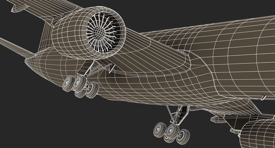 Airbus A350 Delta Airlines royalty-free 3d model - Preview no. 21