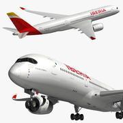 Airbus A350 XWB Iberia 3d model