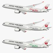 Airbus A350 XWB Japan Airlines 3d model